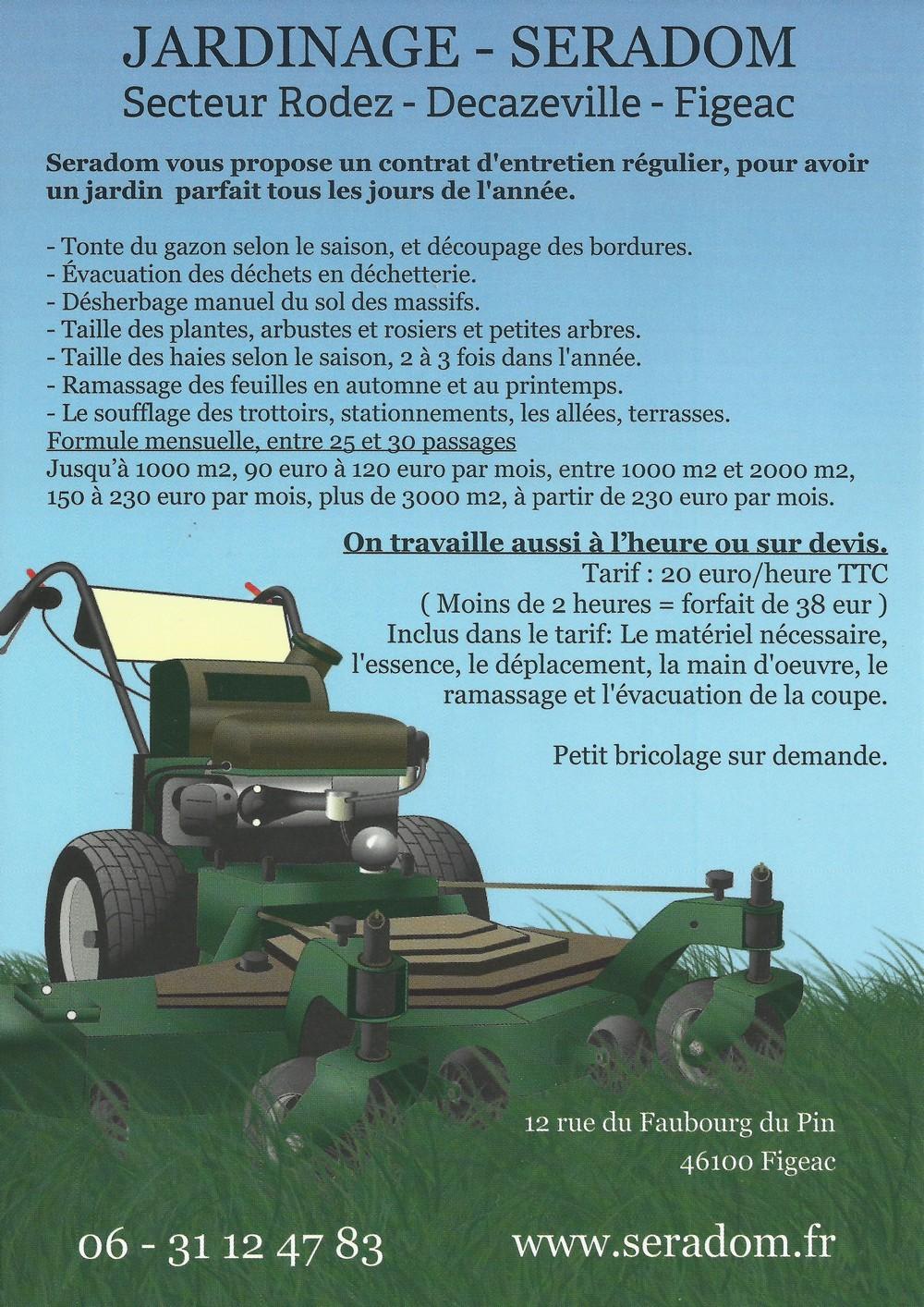 Contrat l 39 ann e entretien jardin for Tarif tonte gazon