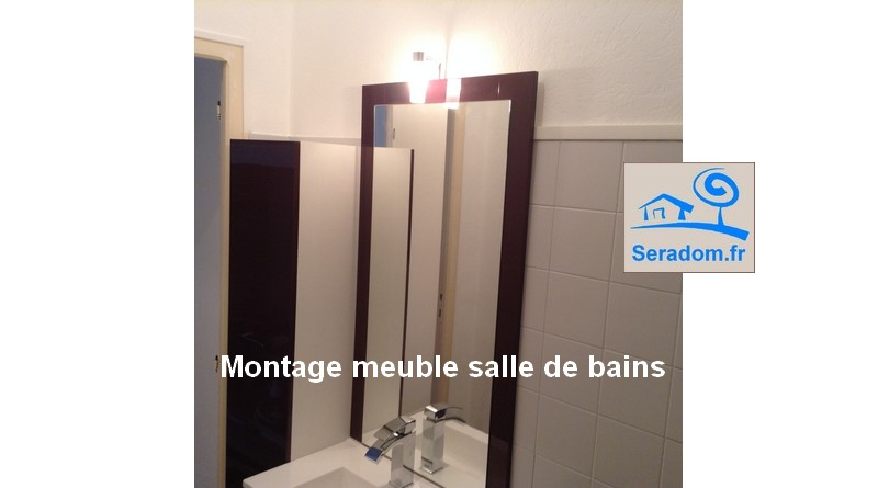 montage meuble salle de bains figeac par seradom. Black Bedroom Furniture Sets. Home Design Ideas